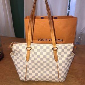 Louis Vuitton Damier Azur Tote Shoulder Bag